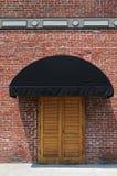 Doorway. Wooden doorway in an old brick building, Salinas, California Stock Image