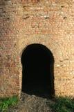 Doorway. Dark doorway in the brick wall Royalty Free Stock Images