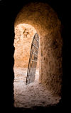 Doorway in abandoned fort. Crete, Greece Royalty Free Stock Photography