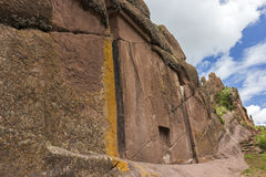 Doorway of the Amaru Meru in Peru Stock Image
