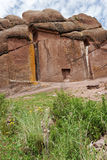 Doorway of the Amaru Meru in Peru Royalty Free Stock Images