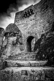 Doorway of the Ancient Castle in Sortelha village. Sabugal Portugal Royalty Free Stock Photos