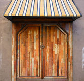 Doorway and Awning. A hip and urban doorway and awning royalty free stock images