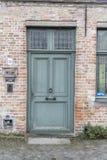 Doorway in Bruges Royalty Free Stock Image