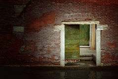 Doorway by the Canal Royalty Free Stock Photos