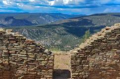Doorway - Chimney Rock National Monument - Colorado. View of Chaco Canyon through kiva doorway at Chimney Rock National Monument Royalty Free Stock Photography