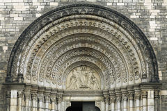 Doorway of Church of Saints Cyril and Methodius, Prague Stock Photography