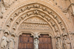 Doorway Detail, Palma Cathedral Stock Images
