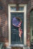 Doorway on elfreths alley. Patriotic doorway on elfreths alley Royalty Free Stock Image