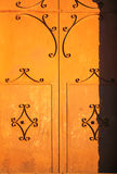 Doorway. External door wrought iron decorated Royalty Free Stock Images