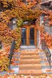 Doorway in fall. Stock Photo