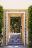 Doorway in garden Stock Photos