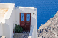 Doorway that goes to nowhere on Santorini island Royalty Free Stock Image