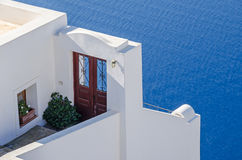 Doorway that goes to nowhere on Santorini island Stock Photo