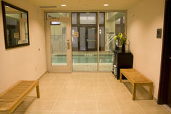 Doorway of hotel Stock Photography