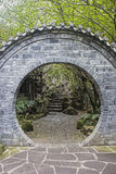 Doorway inside the People`s Park in Chengdu, China Stock Image