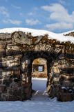 Doorway. Inside the ruins of Kajaani castle which was exploded in 1716 during the Great Northern War Stock Photos