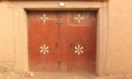 Doorway. A iron doorway decorated with flowers in the village of Nkob, Morocco Stock Photography
