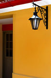 Doorway with a lantern. A doorway with a lantern in a peruvian restaurant royalty free stock photo