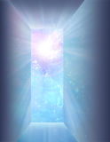 Doorway of light. And space Royalty Free Stock Image