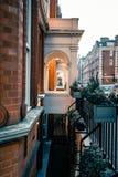 A doorway in london empty streen stock photo