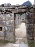 Doorway at Machu Picchu Peru Stock Photos