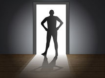 Doorway male Royalty Free Stock Photos