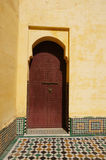 Doorway at the Mausoleum of Moulay Ismail Royalty Free Stock Images