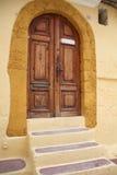 Doorway. Mediterranean doorway with yellow and purple accents Stock Image