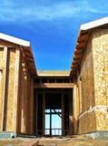 Doorway - New Construction. Doorway of a home under construction stock photo