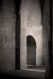 Doorway in old French church. The entrance to a chapel in an old church near Toulouse, France Royalty Free Stock Image