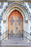 Doorway. Old massive church door of the catholic church Royalty Free Stock Images