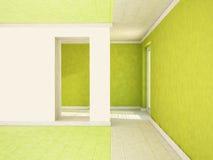 Doorway and  an open door Stock Image