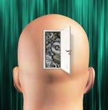 Doorway opens to gears mind Stock Photo