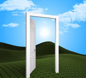 Doorway Planning Indicates Target Goals And Aspire. Doorway Future Meaning Objective Objectives And Goals stock illustration