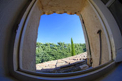 Doorway in Provence. A detail of a doorway in a house in Provence, France Royalty Free Stock Photo