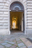 The doorway of the Royal Palace in Turin, Italy Royalty Free Stock Photos