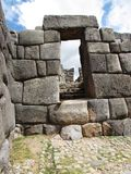 Doorway at Sacsayhuaman Peru Royalty Free Stock Image