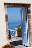 Doorway in Santorini Stock Image