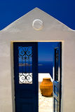 Doorway of Santorini Greece Stock Photography