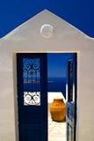 Doorway of Santorini Greece Stock Photography