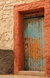 Doorway. A doorway in the seaside village of Essaouira, Morocco Royalty Free Stock Photography