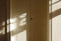 Doorway with shadow Royalty Free Stock Image