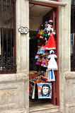 Doorway of shop in Havana Royalty Free Stock Photography