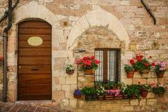 Doorway in small Italian town Royalty Free Stock Photo