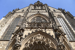 Doorway of St. Peter and Paul Cathedral in Brno Stock Photography