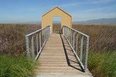 Doorway to the bay. Doorway to San Francisco Bay, Alviso, California Royalty Free Stock Image