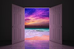 Doorway to the beach Royalty Free Stock Photography