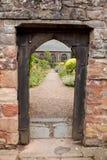Doorway to Church Gardens. In Dunster, Somerset, England, UK Stock Photos