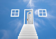 Doorway to the clouds Stock Photo